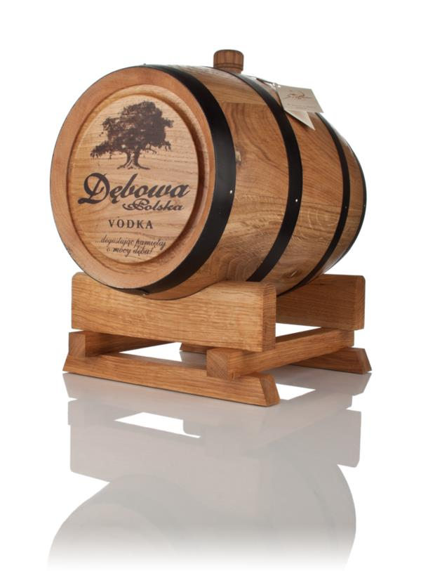 Debowa Polish Oak Vodka Barrel (Black Hoops) - 3 Litre Plain Vodka