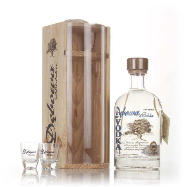 Debowa Polish Oak Vodka Gift Pack with 2x Glasses Flavoured Vodka