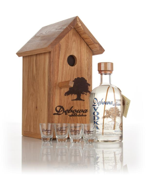 Debowa Polish Oak Vodka with Bird Hut & 4x Glasses Plain Vodka