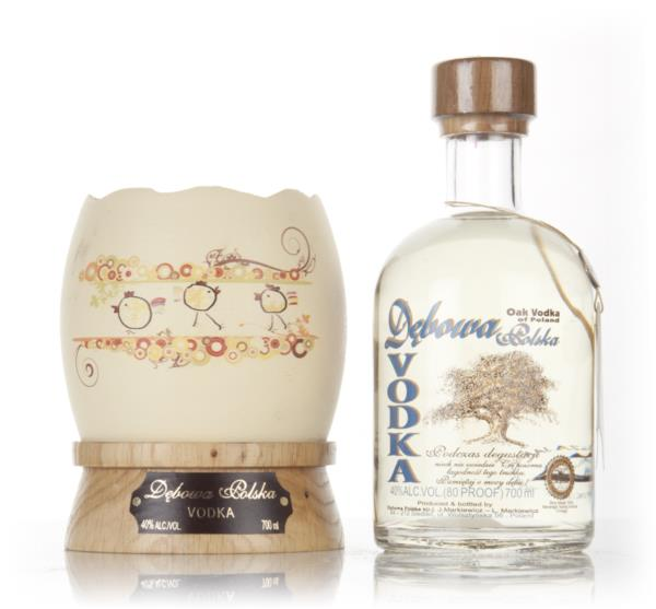 Debowa Polish Oak Vodka with Easter Egg Presentation Stand Plain Vodka