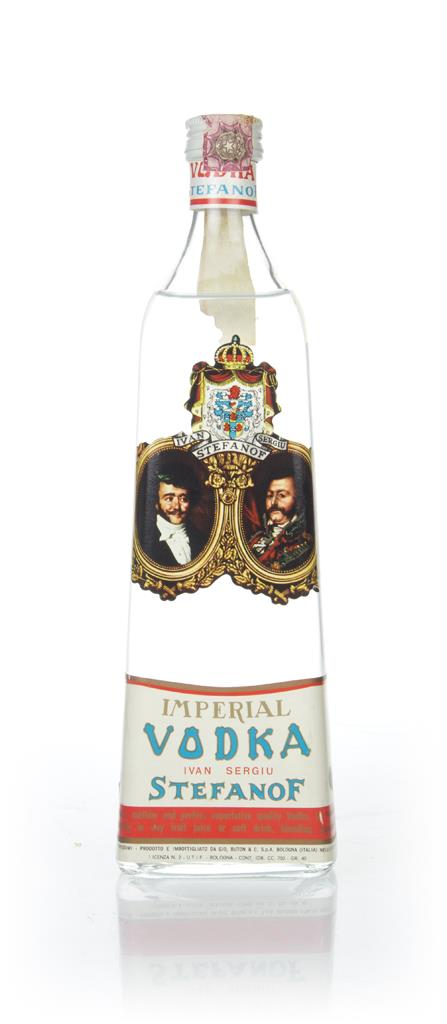 Ivan Sergui Stefanof Imperial Vodka - 1960s Plain Vodka