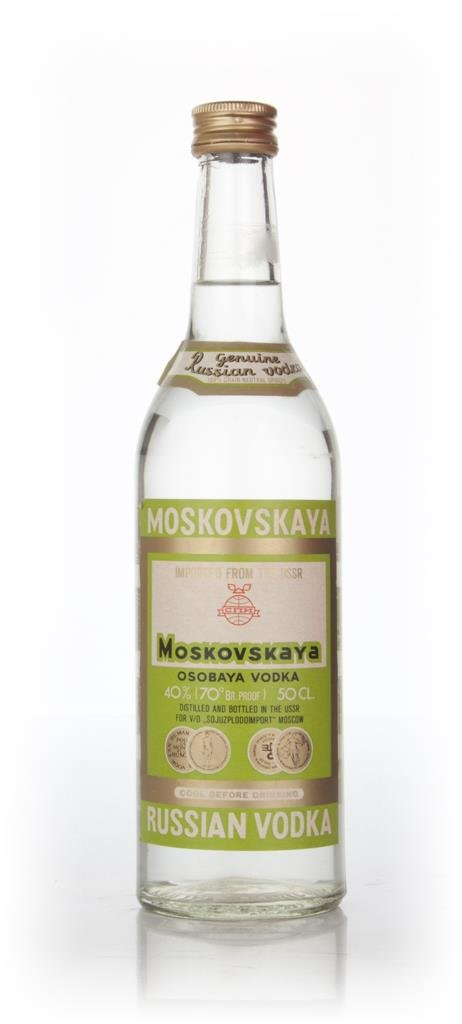 Moskovskaya Vodka 50cl - 1970s Plain Vodka