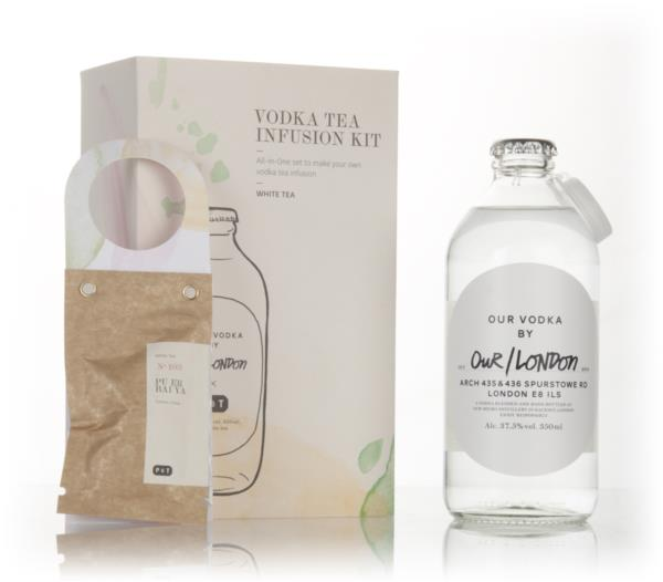 Our/London Vodka Tea Infusion Kit - White Tea Plain Vodka
