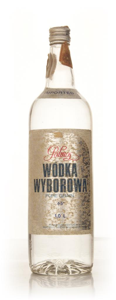 Polmos Wodka Wyborowa 1l - 1970s Plain Vodka