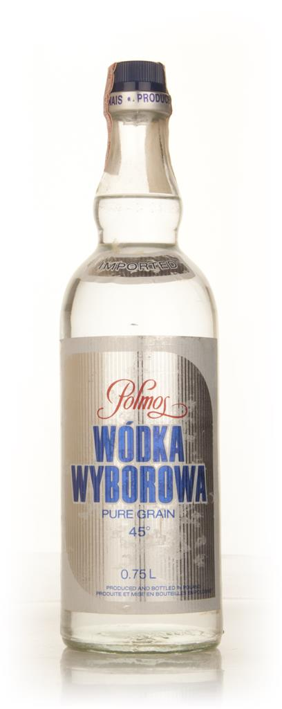 Polmos Wodka Wyborowa 75cl - 1970s Plain Vodka