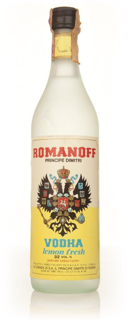 Romanoff Lemon Vodka - 1960s Flavoured Vodka
