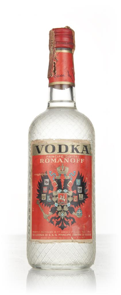 Romanoff Vodka 43% - 1960s Plain Vodka