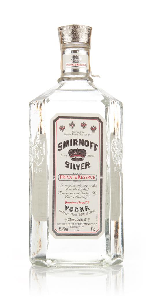 Smirnoff Silver Private Reserve Vodka - 1980s Plain Vodka