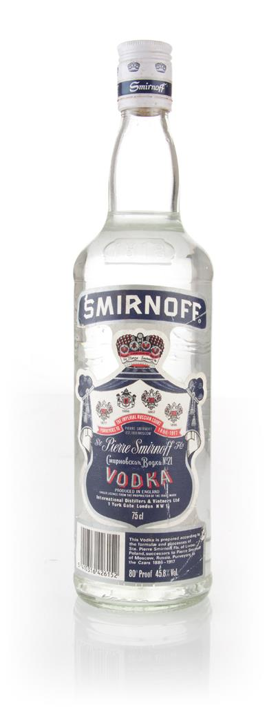 Smirnoff Blue Label - 1980s (45.8%) Plain Vodka