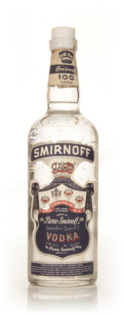 Smirnoff Blue Label Vodka - 1960s Plain Vodka