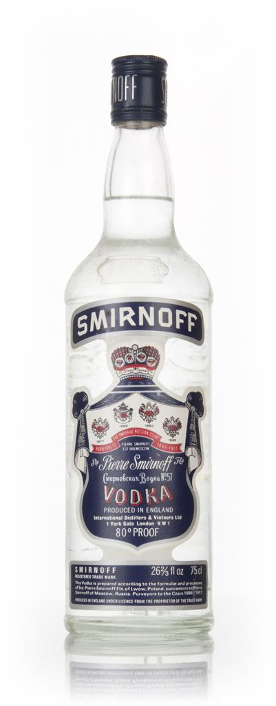Smirnoff Blue Label Vodka - 1970s Plain Vodka