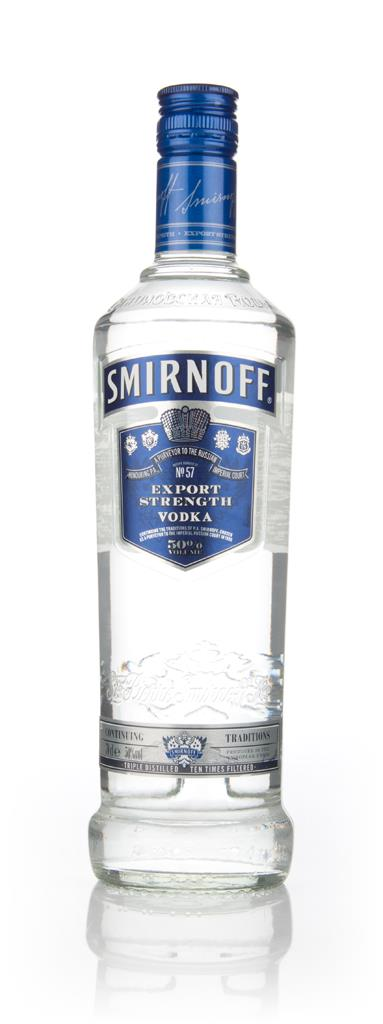 Smirnoff Blue No 57 Export Strength (50%) Plain Vodka