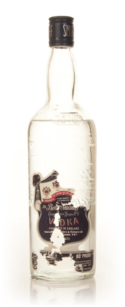 Smirnoff Vodka 75cl - 1970s Plain Vodka