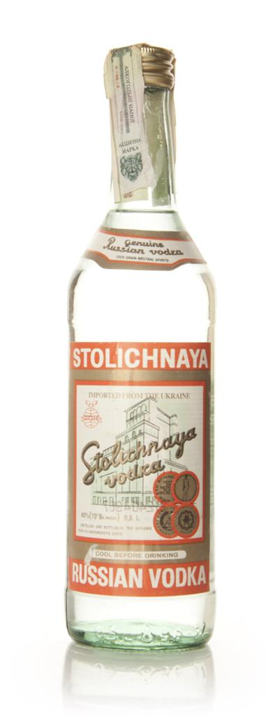 Stolichnaya Vodka - 1980s 50cl Plain Vodka