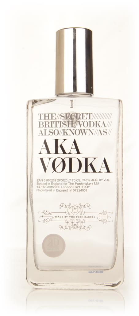 The Secret British Vodka also known as AKA Plain Vodka