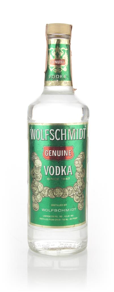 Wolfschmidt Genuine Vodka - 1980s Plain Vodka