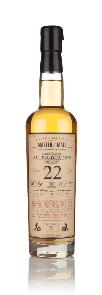 Allt-a-Bhainne 22 Year Old 1992 - Single Cask (Master of Malt) Single Malt Whisky