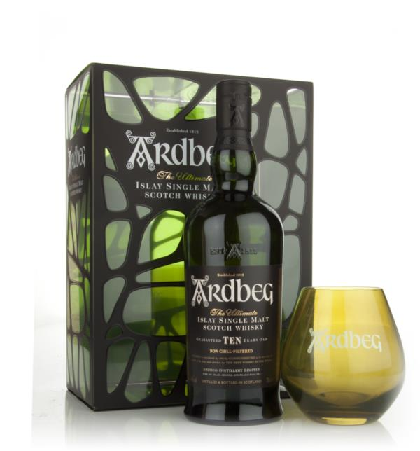 Ardbeg 10 Year Old with Glass Gift Pack Single Malt Whisky