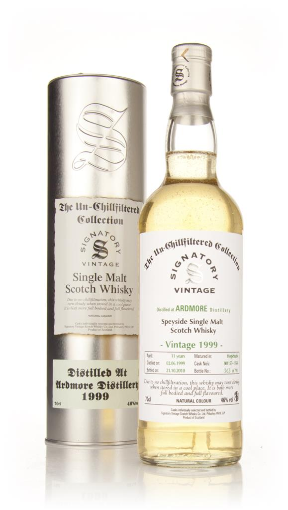 Ardmore 11 Year Old 1999 - Un-Chillfiltered (Signatory) Single Malt Whisky