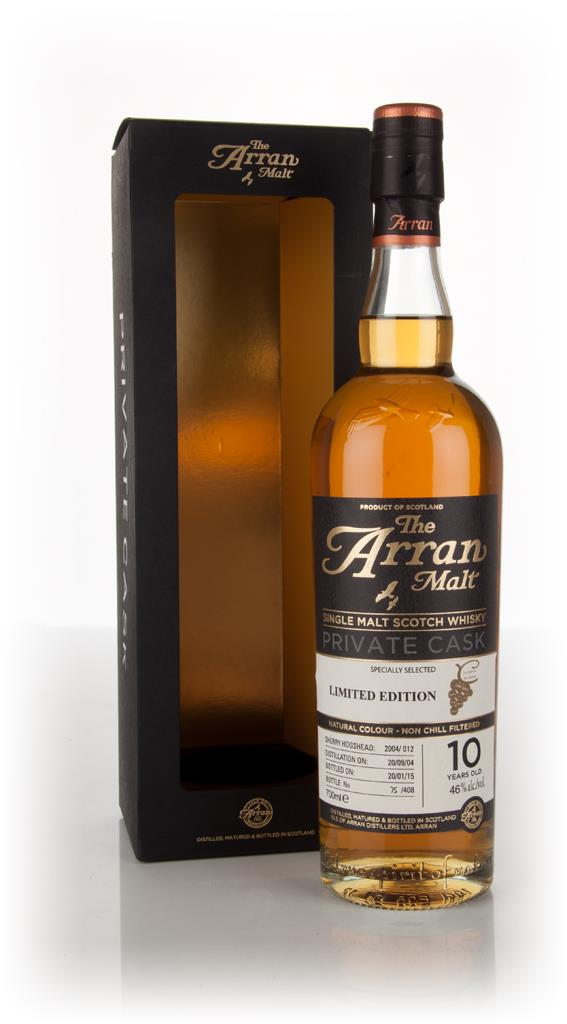Arran 10 Year Old 2004 (cask 2004/012) - Private Cask Single Malt Whisky