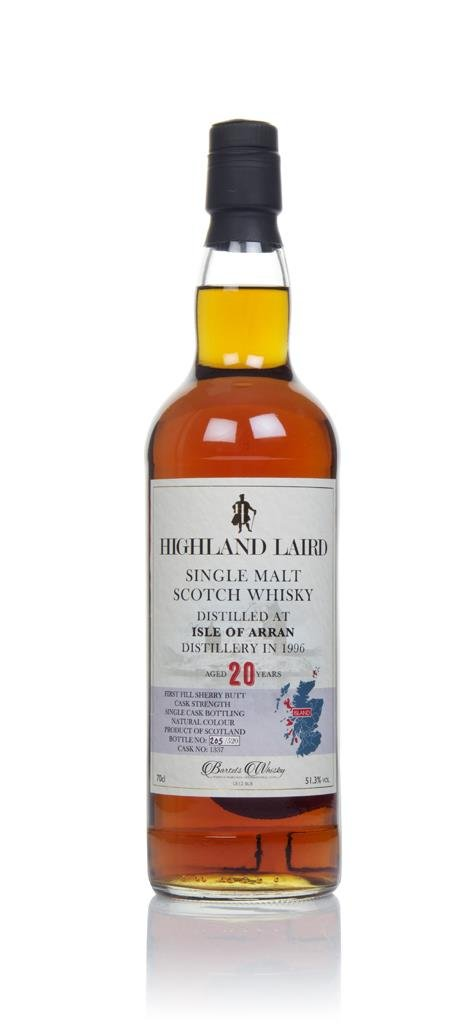 Arran 20 Year Old 1996 (cask 1337) - Highland Laird (Bartels Whisky) 3 Single Malt Whisky 3cl Sample