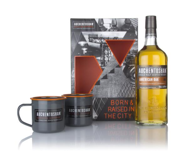 Auchentoshan American Oak Gift Pack with 2x Cups Single Malt Whisky