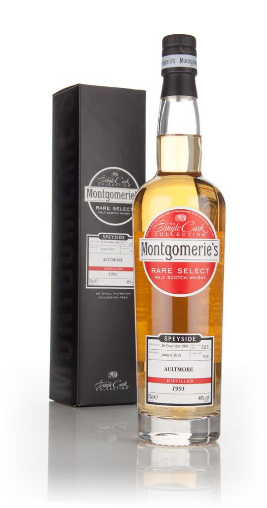 Aultmore 23 Year Old 1991 (cask 7410) - Rare Select (Montgomeries) Single Malt Whisky
