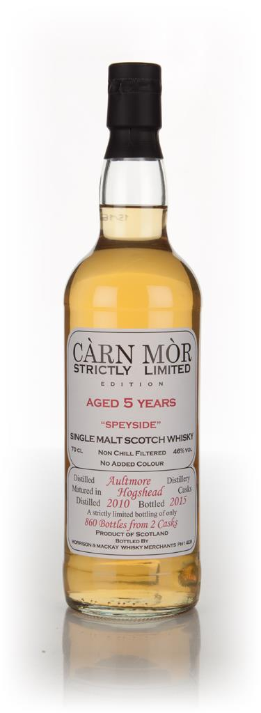 Aultmore 5 Year Old 2010 - Strictly Limited (Carn Mor) Single Malt Whisky