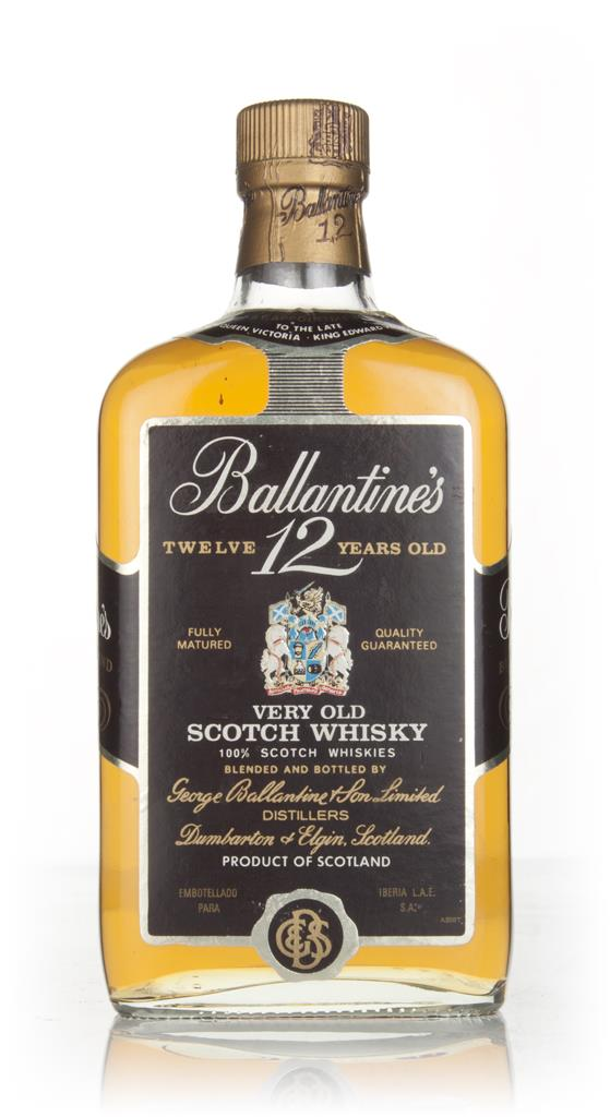 Ballantines 12 Year Old 75cl - 1970s Blended Whisky