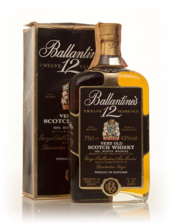 Ballantines 12 Year Old - 1980s Blended Whisky