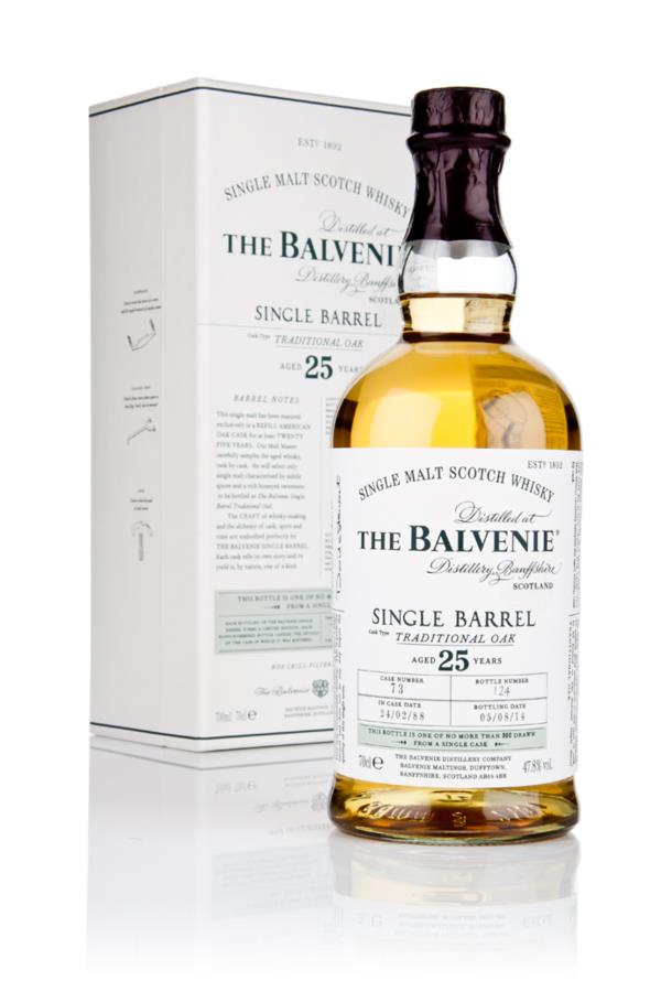 Balvenie 25 Year Old Single Barrel Traditional Oak 3cl Sample Single Malt Whisky