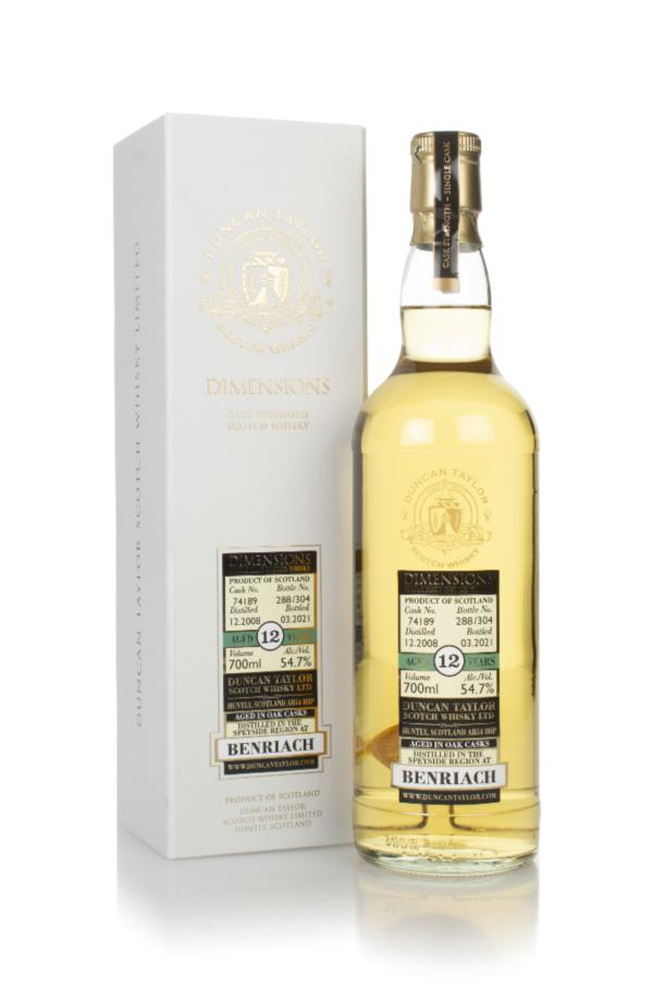 Benriach 12 Year Old 2008 (cask 74189) - Dimensions (Duncan Taylor) Single Malt Whisky