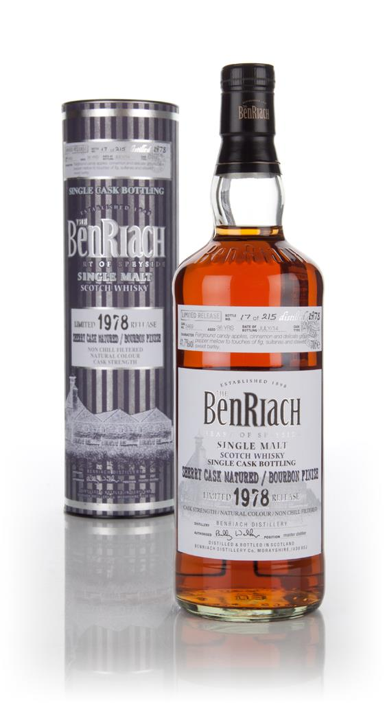 BenRiach 36 Year Old 1978 (cask 5469) Bourbon Cask Finish 3cl Sample Single Malt Whisky