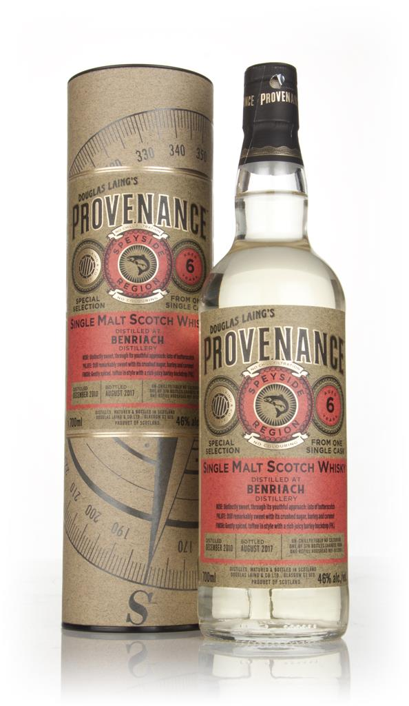 BenRiach 6 Year Old 2010 (cask 12061) - Provenance (Douglas Laing) Single Malt Whisky