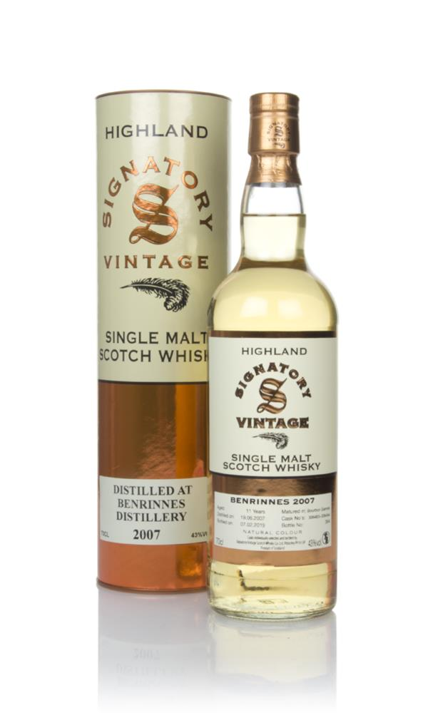 Benrinnes 11 Year Old 2007 (casks 306483 & 306484) - Signatory Single Malt Whisky