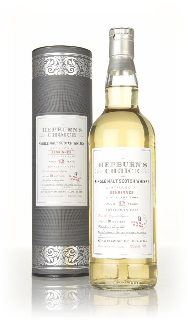 Benrinnes 12 Year Old 2005 - Hepburns Choice (Langside) Single Malt Whisky