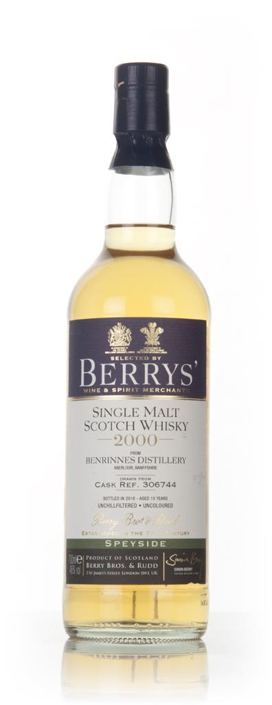 Benrinnes 15 Year Old 2000 (cask 306744) (Berry Bros. & Rudd) Single Malt Whisky