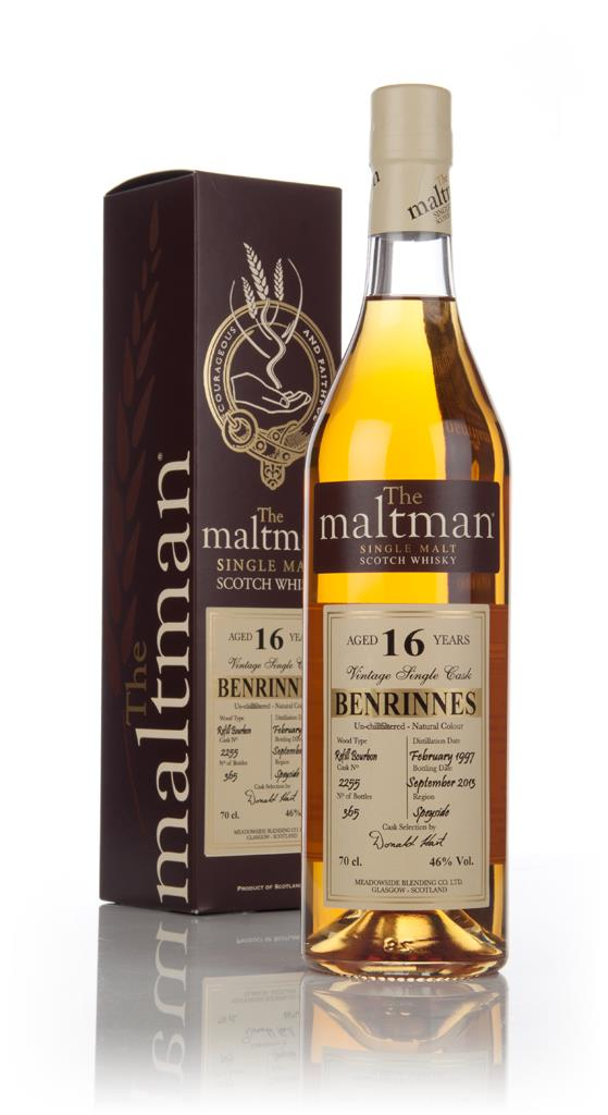 Benrinnes 16 Year Old 1997 - The Maltman Single Malt Whisky
