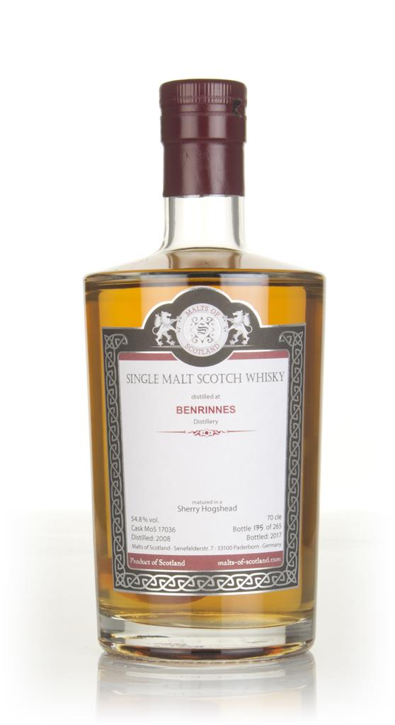 Benrinnes 2008 (bottled 2017) (cask 17036) - Malts of Scotland Single Malt Whisky