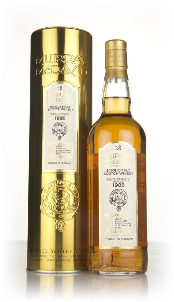 Benrinnes 28 Year Old 1988 (cask 140001) - Mission Gold (Murray McDavi Single Malt Whisky