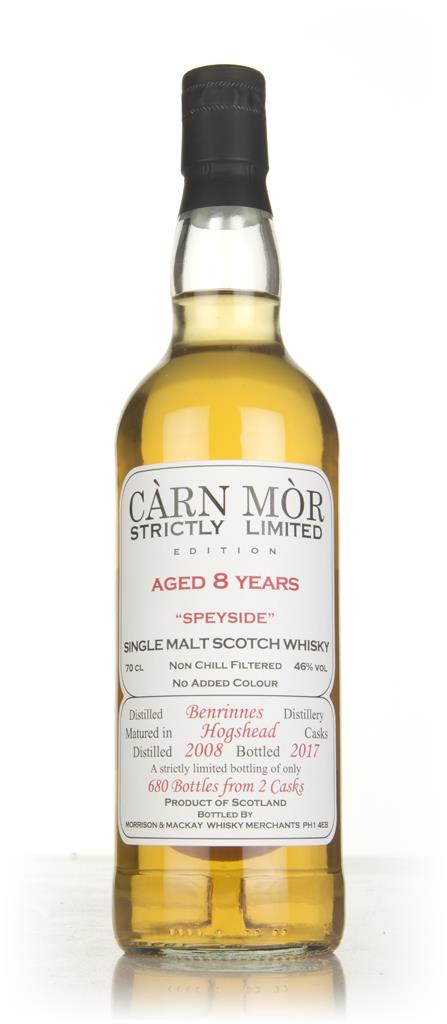 Benrinnes 8 Year Old 2008 - Strictly Limited (Carn Mor) Single Malt Whisky