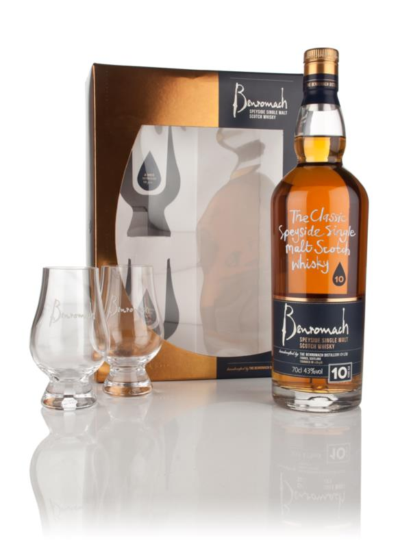 Benromach 10 Year Old Gift Pack with 2x Glasses Single Malt Whisky