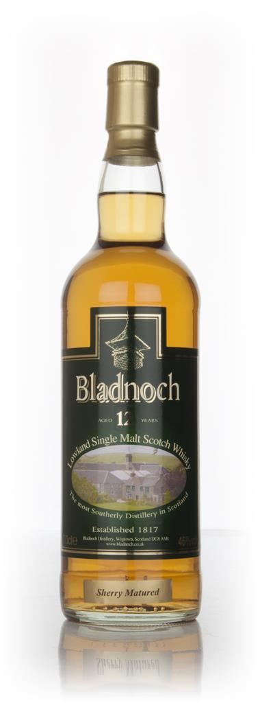 Bladnoch 12 Year Old Sherry Cask Matured - Distillery Label Single Malt Whisky