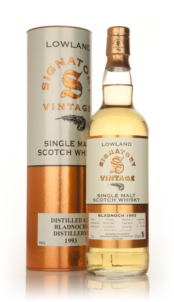 Bladnoch 20 Year Old 1993 (casks 767+773) (Signatory) Single Malt Whisky
