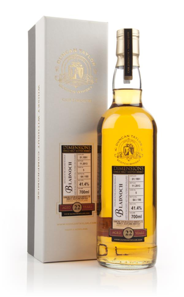 Bladnoch 22 Year Old 1991 (cask 5) - Dimensions (Duncan Taylor) 3cl Sa Single Malt Whisky 3cl Sample