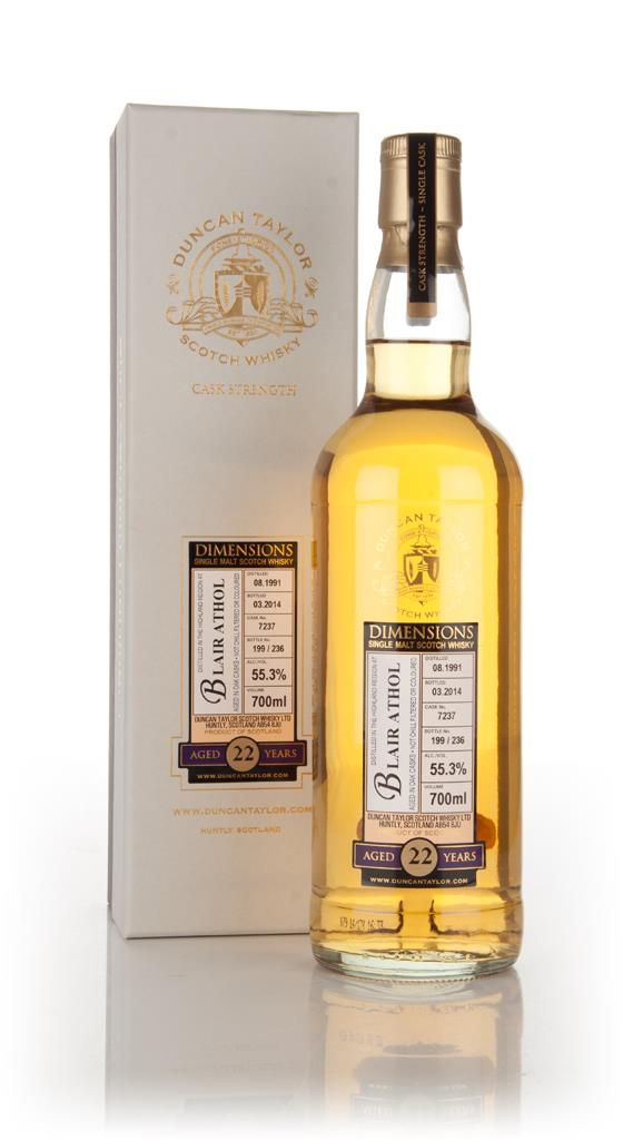 Blair Athol 22 Year Old 1991 (cask 7237) - Dimensions (Duncan Taylor) Single Malt Whisky 3cl Sample