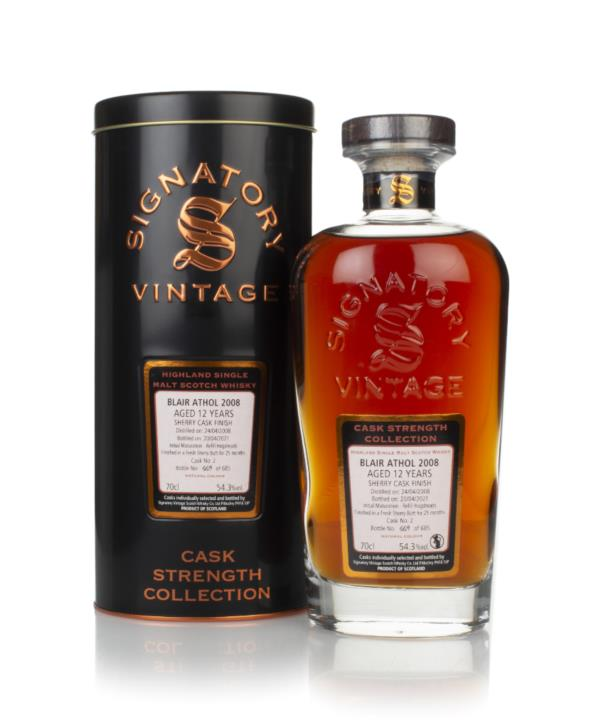 Blair Athol 12 Year Old 2008 (cask 2) - Cask Strength Collection (Sign Single Malt Whisky