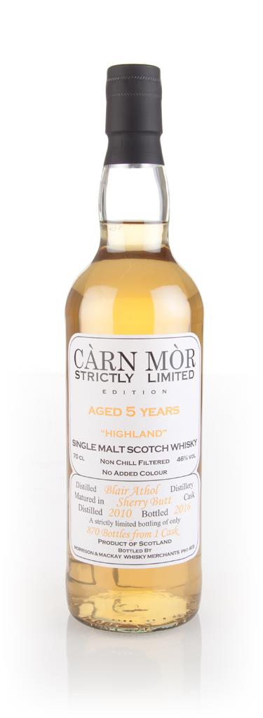Blair Athol 5 Year Old 2010 - Strictly Limited (Carn Mor) Single Malt Whisky