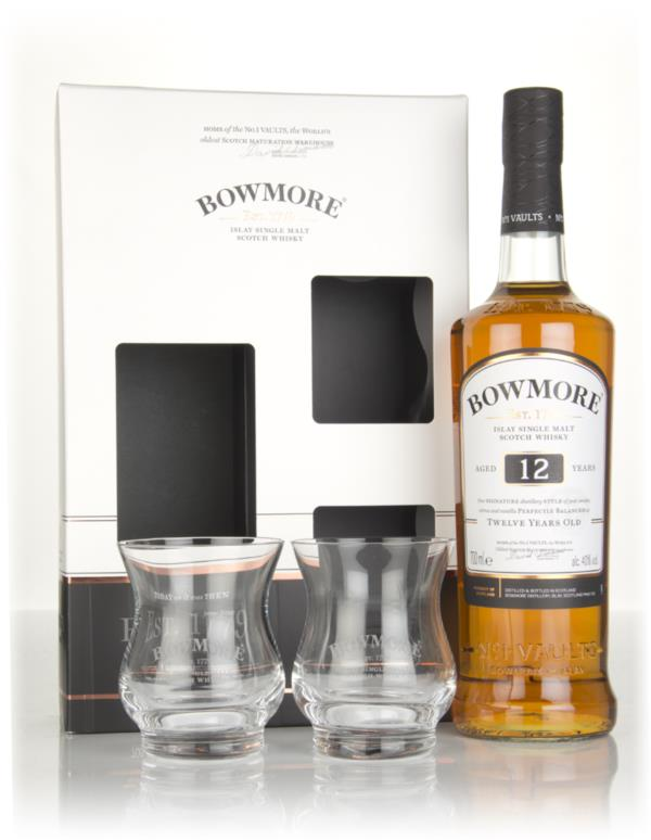 Bowmore 12 Year Old Gift Pack with 2x Glasses Single Malt Whisky