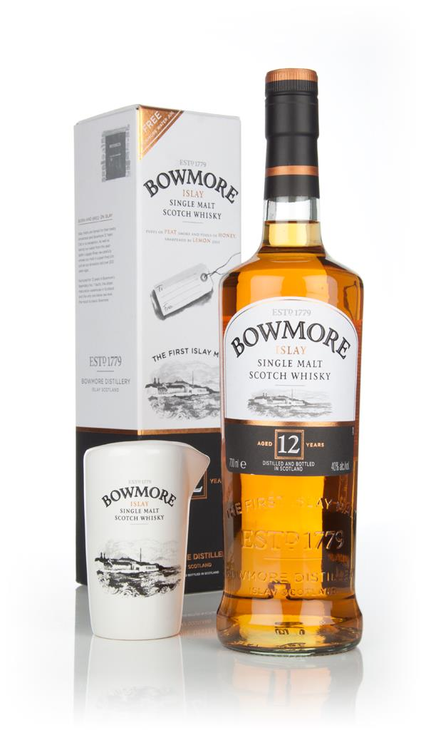 Bowmore 12 Year Old With Free Water Jug Single Malt Whisky